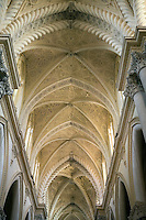 Italy, Sicily, Erice: Ceiling of the Duomo Santa Maria dellAssunta | Italien, Sizilien, Erice: Kirche Santa Maria dellAssunta, auch Dom von Erice genannt, Deckengewoelbe