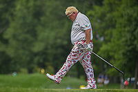 John Daly (USA) kicks the ground after his errant drive on 16 during 1st round of the 100th PGA Championship at Bellerive Country Club, St. Louis, Missouri. 8/9/2018.<br /> Picture: Golffile | Ken Murray<br /> <br /> All photo usage must carry mandatory copyright credit (© Golffile | Ken Murray)