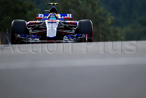 26th August 2017, Circuit de Spa-Francorchamps, Belgium; Belgium Grand Prix, Qualifying Session; Carlos SAINZ Jr. from Spain of Team Scuderia Toro Rosso, Toro Rosso STR12, Renault RE17 engine entering to the pit lane