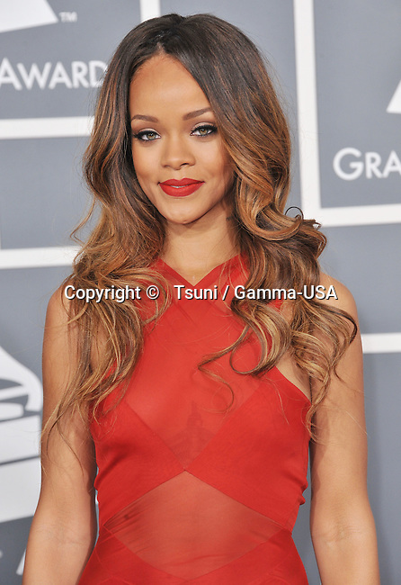 a _ Rihanna _162  the 55th Ann. Grammy Awards 2013 at the Staples Center in Los Angeles.
