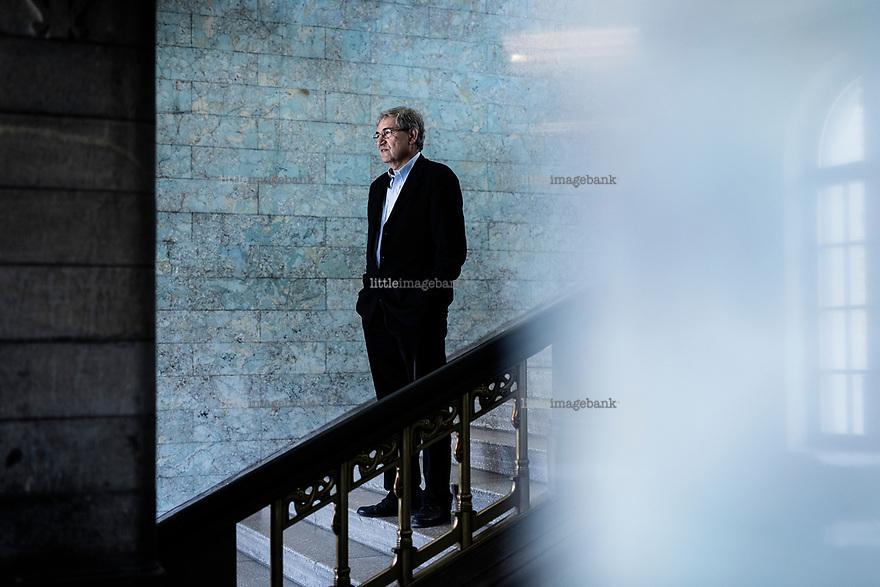 Oslo, Norge, 22.05.2017. Den tyrkiske forfatteren og nobelprisvinneren, Orhan Pamuk. Foto: Christopher Olssøn.