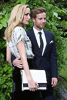 Luke Treadaway and Ruta Gedmintas arriving for the Maleficent Private Costume Reception, at Kensington Palace, London. 08/05/2014 Picture by: Alexandra Glen / Featureflash