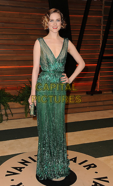 WEST HOLLYWOOD, CA - MARCH 2: Rachel Evan Wood arrives at the 2014 Vanity Fair Oscar Party in West Hollywood, California on March 2, 2014.  <br /> CAP/MPI/MPI213<br /> &copy;MPI213/MediaPunch/Capital Pictures