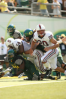 2 September 2006: Ekom Udofia (54) and Clinton Snyder (20) during Stanford's 48-10 loss to the Oregon Ducks at Autzen Stadium in Eugene, OR.