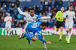 Jorge Molina of Getafe FC and Eder Militao of Real Madrid during La Liga match between Getafe CF and Real Madrid at Coliseum Alfonso Perez in Getafe, Spain. January 04, 2020. (ALTERPHOTOS/A. Perez Meca)