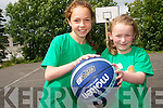 Fun times at the Gneeveguilla basketball camp last week. .L-R Hanorah Hurley and Muireann Hughes.