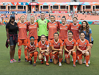 Houston, TX - Friday, August 17, 2018: Houston Dash vs Washington Spirit at BBVA Compass Stadium.