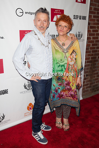 NEW YORK, NY - MAY 30: Simon Doonan and Leigh Blake attend EndGame: The Global Campaign to defeat AIDS, TB And Malaria charity event at The McKittrick Hotel on May 30, 2013 in New York City. Credit: &copy; Corredor99 / MediaPunch Inc.<br />