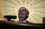United States Senate Majority Leader Mitch McConnell (Republican of Kentucky) speaks during a press conference following policy luncheons on Capitol Hill in Washington D.C., U.S. on September 17, 2019.<br /> <br /> Credit: Stefani Reynolds / CNP
