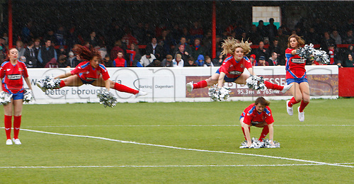27.10.2012 Dagenham, England: ..Dagenham Chairledders..in action during the League Two match between Dagenham and Redbridge & Aldershot Town from The L.B Barking & Dag Stadium, Victoria Road..