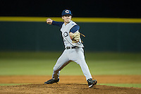 Catawba Indians relief pitcher Clay Young (31) in action against the Belmont Abbey Crusaders at Abbey Yard on February 7, 2017 in Belmont, North Carolina.  The Crusaders defeated the Indians 12-9.  (Brian Westerholt/Four Seam Images)