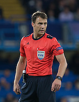 Referee Felix Zwayer (GER) during the UEFA Champions League match between Chelsea and Maccabi Tel Aviv at Stamford Bridge, London, England on 16 September 2015. Photo by Andy Rowland.
