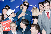 Milo Yiannopoulos greets people in the Midtown Hilton at the election night victory rally for Republican presidential nominee Donald Trump, on Tues., Nov. 8, 2016. Trump was named president-elect in the early hours of Nov. 9, 2016.