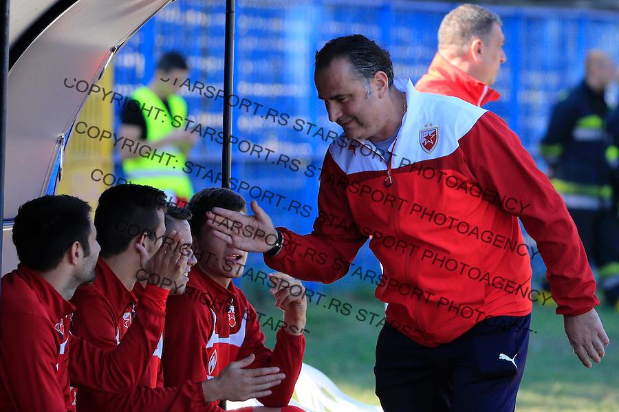 Fudbal Jelen Super League season 2015-2016<br /> Spartak v Crvena Zvezda<br /> head coach Miodrag Bozovic (R)<br /> Subotica, 03.10.2015.<br /> foto: Srdjan Stevanovic/Starsportphoto&copy;