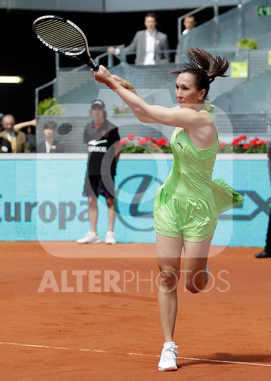 Jelena Jankovic during Tennis Madrid Open match, May 5,2010..(ALFAQUI/Cesar Cebolla)