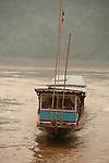 Remontee du Mekong entre Luan Prabang et Pakbeng vers la frontiere thailandaise. Laos