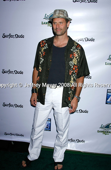 "MALIBU, CA. - September 10: Actor Jeffrey Nordling arrives at the ""Surfer Dude"" premiere at the Malibu Cinemas on September 10, 2008 in Malibu, California."