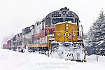 Delaware & Lackawanna Train In Snowstorm, Pocono Mts, PA
