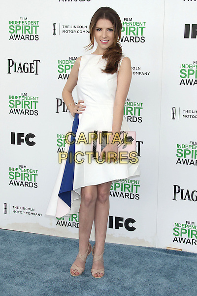 1 March 2014 - Santa Monica, California - Anna Kendrick. 2014 Film Independent Spirit Awards held at Santa Monica Beach. <br /> CAP/ADM/RE<br /> &copy;Russ Elliot/AdMedia/Capital Pictures