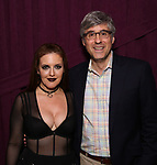 "Jennifer Simard and Mo Rocca backstage after ""Stigma"" on September 9, 2018 at the Green Room 42 in New York City."