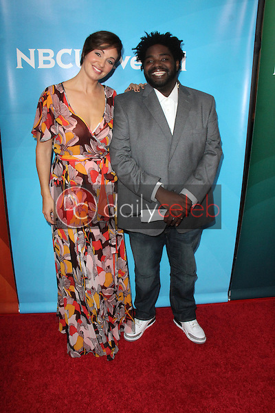 Bianca Kajlich, Ron Funches<br /> at the NBCUniversal Press Tour Day 2, Beverly Hilton, Beverly Hills, CA 08-13-15<br /> David Edwards/DailyCeleb.com 818-249-4998