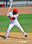 4 March 2012: Washington Nationals outfielder Eury Perez in action against the Houston Astros at Space Coast Stadium in Viera, Florida. The Astros defeated the Nationals 10-2 in Grapefruit League action. Mandatory Credit: Ed Wolfstein Photo