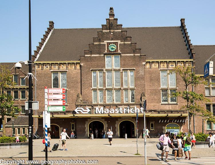 Railway station, Maastricht, Limburg province, Netherlands,