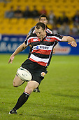 Kevin Farrell kicks for space. Air New Zealand Cup rugby game between Counties Manukau Steelers & Wellington played at Mt Smart Stadium on the 31st August 2007. The Score was 13 all at halftime, with Wellington going on to win 33 - 18.