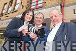 GET SNAPPING: Tralee Credit Union is looking for keen photographers to send in.snaps from their community for a new 2008 calendar. From l-r were: Suzanne Ennis,.marketing and development officer with Tralee Credit Union, photographer Michael.Diggin and Kevin Geary, of the 40th Anniversary Committee of Tralee Credit Union.