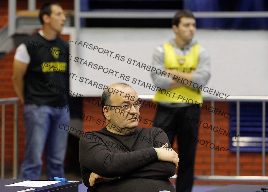 Kosarka ABA League season 2012-2013.Partizan Vs. Siroki.Head coach Dusko Vujosevic.Beograd, 14.10.2012..foto: Srdjan Stevanovic/Starsportphoto ©