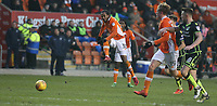 Blackpool's Nathan Delfouneso is of target with this long range shot<br /> <br /> Photographer Stephen White/CameraSport<br /> <br /> The EFL Sky Bet League One - Blackpool v Bristol Rovers - Saturday 13th January 2018 - Bloomfield Road - Blackpool<br /> <br /> World Copyright &copy; 2018 CameraSport. All rights reserved. 43 Linden Ave. Countesthorpe. Leicester. England. LE8 5PG - Tel: +44 (0) 116 277 4147 - admin@camerasport.com - www.camerasport.com
