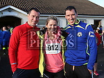 Derek Shevlin, Linda McAfee and Ken Shevlin at the Annagassan 10km.<br /> <br /> <br /> Photo - Jenny Matthews