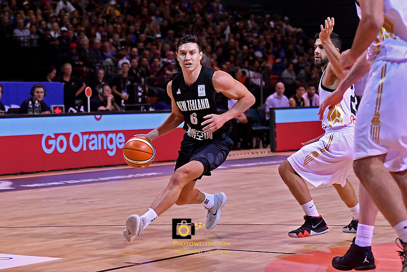 New Zealand Tall Blacks&rsquo; Jarrod Kenny in action during the FIBA World Cup Basketball Qualifier - NZ Tall Blacks v Jordan at Horncastle Arena, Christchurch, New Zealand on Thursday 29 November  2018. <br /> Photo by Masanori Udagawa. <br /> www.photowellington.photoshelter.com