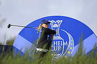 Caroline Hedwall Team Europe on the 8th tee during Day 1 Fourball at the Solheim Cup 2019, Gleneagles Golf CLub, Auchterarder, Perthshire, Scotland. 13/09/2019.<br /> Picture Thos Caffrey / Golffile.ie<br /> <br /> All photo usage must carry mandatory copyright credit (© Golffile | Thos Caffrey)