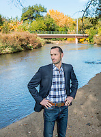 Director of the Colorado Water Conservation Board, James Eklund (cq), near Cherry Creek in Denver, Colorado, Friday, Octoer 17, 2014. Eklund leads the state&rsquo;s water policy and planning efforts and is heading up the development of the Colorado Water Plan. Prior to leading CWCB, James was senior deputy legal counsel to Governor John Hickenlooper.<br /> <br /> Photo by Matt Nager