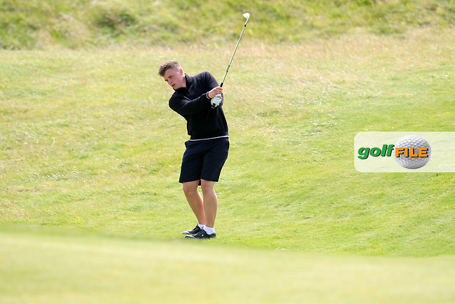 James Sugrue (Mallow) during the last 16 of the South of Ireland from Lahinch golf club, Lahinch, Co. Clare, Ireland. <br /> Picture: Fran Caffrey / Golffile