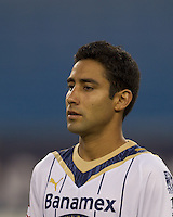 Pumas UNAM defender Luis Fuentes (33). The New England Revolution defeated Pumas UNAM in SuperLiga group play, 1-0, at Gillette Stadium on July 14, 2010.