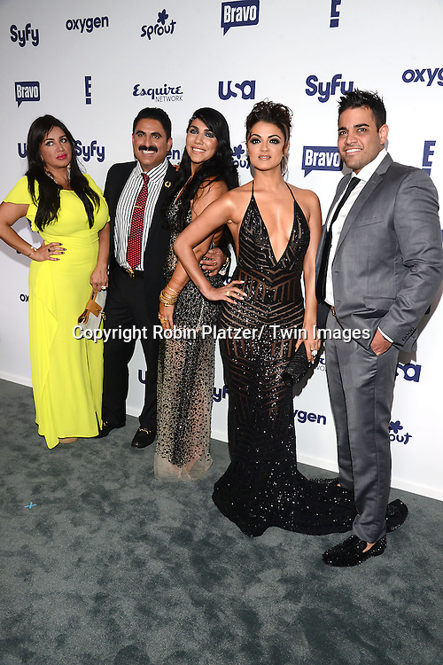 cast of Shahs of Sunset, Mercedes Javid, Reza Farahan, Asa Soltan Rahmati, Golnesa&quot; GG&quot; Gharachedaghi and MikeShouhed attend the NBCUniversal Cable Entertainment Upfront <br /> on May 15, 2014 at The Javits Center North Hall in New York City, New York, USA.