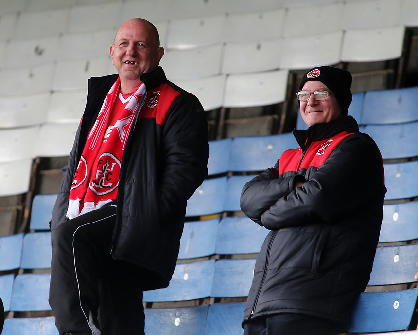 Fleetwood Town fans enjoy the atmosphere inside the ABAX stadium<br /> <br /> Photographer David Shipman/CameraSport<br /> <br /> The EFL Sky Bet League One - Peterborough United v Fleetwood Town - Friday 14th April 2016 - ABAX Stadium  - Peterborough<br /> <br /> World Copyright &copy; 2017 CameraSport. All rights reserved. 43 Linden Ave. Countesthorpe. Leicester. England. LE8 5PG - Tel: +44 (0) 116 277 4147 - admin@camerasport.com - www.camerasport.com