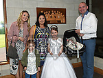 Amanda Lucy McGuinness from Donacarney school who recieved first holy communion in the Star of the Sea church Mornington with her family. Photo:Colin Bell/pressphotos.ie