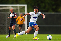 Boston Breakers forward Lianne Sanderson (10). Sky Blue FC and the Boston Breakers played to a 0-0 tie during a National Women's Soccer League (NWSL) match at Yurcak Field in Piscataway, NJ, on July 13, 2013.