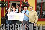 CHECK IT OUT: Christy Le Hone from Kerry Friends of Motor Neuron presented a cheque for ?500 in Murphy's Bar, Main Street, Kenmare, on Thursday last. Pictured were l-r: Kathleen Bowler, Jack Cahill, Bina O'Sullivan, Brigid O'Shea, Albert Greenfied and Robbie Freeman.