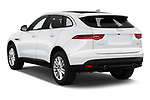 Car pictures of rear three quarter view of 2019 Jaguar F-Pace Prestige 5 Door SUV Angular Rear