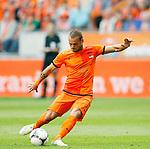 Nederland, Amsterdam, 2 juni 2012.Oefenwedstrijd .Nederland-Noord Ierland.Wesley Sneijder van Nederland scoort de 2-0