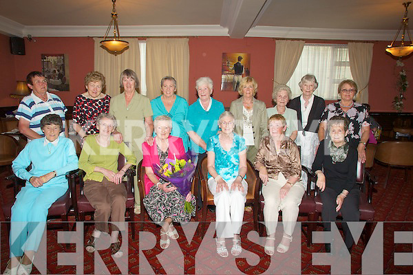 PITCH&PUTT: The Tralee Ladies pitch and club members had a day in Castleisland on their Pitch and Putt Course and afterward to the Imperial Hotel for prize given and dinner. Front l-r: Maura Casey, Ita O'Donnell, Agnes Meehan (lady capt), Margaret Murphy, Bridget Sutton and Ellen Hill. Back l-r: Theresa Broderick, Nora Sweeney, Kate Griffin, Beryl Buggy, Ann Walsh, Bunny Henerich, Mauren DeLacey, Joan Carroll and Sarah Heffernan. ............................................. ....