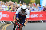 Alex Dowsett (GBR) in action during the Men Elite Individual Time Trial of the UCI World Championships 2019 running 54km from Northallerton to Harrogate, England. 25th September 2019.<br /> Picture: Eoin Clarke | Cyclefile<br /> <br /> All photos usage must carry mandatory copyright credit (© Cyclefile | Eoin Clarke)