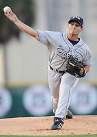 23 April 2008:  Florida International starting pitcher Eric Horstmann (31) throws in the FIU 6-3 victory over Miami at Mark Light Field in Coral Gables, Florida.