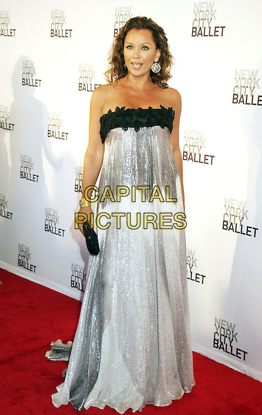 VANESSA WILLIAMS .2011 New York City Ballet Spring Gala held at the David H. Koch Theater, Lincoln Center, New York, NY, USA, 11th May 2011..full length black silver long maxi dress  shimmery  clutch bag gold bracelet cuff  shiny strapless .CAP/ADM/AC.©Alex Cole/AdMedia/Capital Pictures.