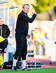 Uppsala 2015-05-21 Fotboll Superettan IK Sirius - Mj&auml;llby AIF :  <br /> Mj&auml;llbys tr&auml;nare Hans Larsson reagerar under matchen mellan IK Sirius och Mj&auml;llby AIF <br /> (Foto: Kenta J&ouml;nsson) Nyckelord:  Superettan Sirius IKS Mj&auml;llby AIF portr&auml;tt portrait tr&auml;nare manager coach