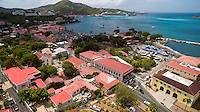 Aerial view of Charlotte Amalie<br />